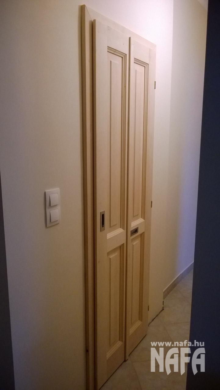 Egyedi belsőajtó féligüveges, natúr, Kaposmérő