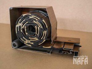 Elé építhető, külső tokos műanyag vagy alumínium redőny metszet 1
