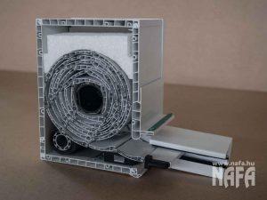 Fölé építhető, és vakolható műanyag vagy alumínium redőny metszet 1